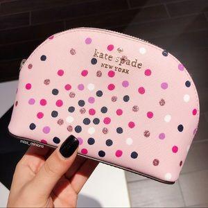 Kate Spade Staci Confetti Glitter Dot Cosmetic Bag